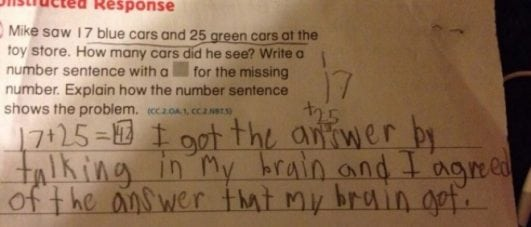 funnest test answer ever
