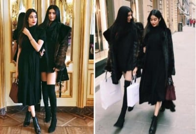 Jhanvi-Kapoor-with-sister-Khushi-Kapoor-during-shopping