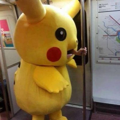 Pikarchu in subway weird people