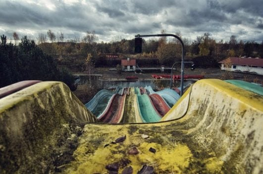 An abandoned waterpark