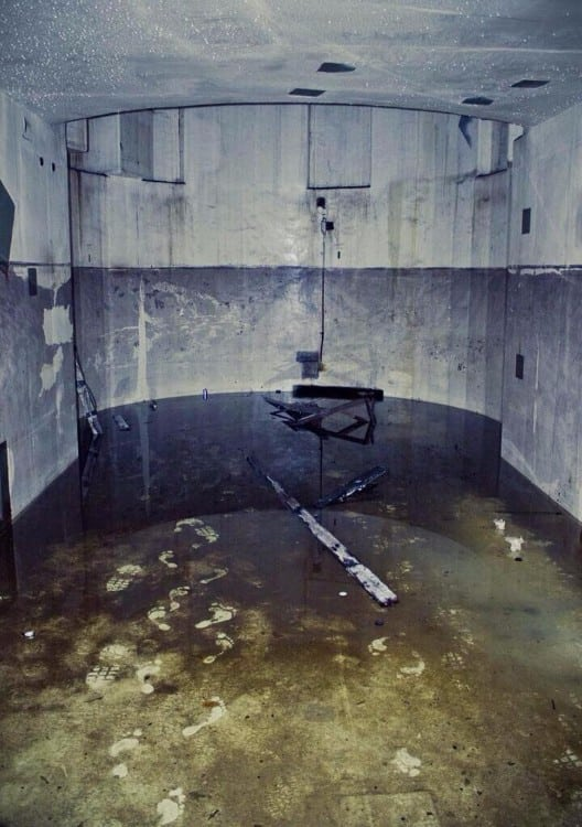 Bare footprints in an abandoned nuclear reactor