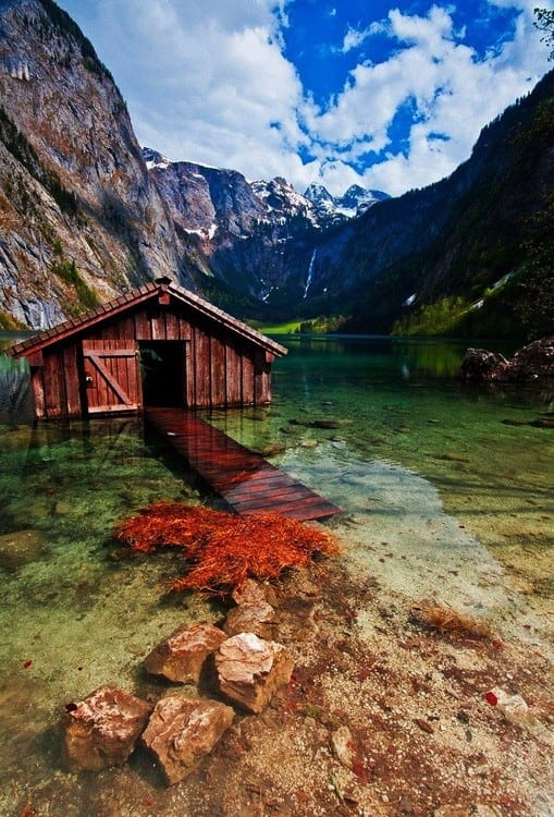 Boathouse, Obersee Lake, Germany