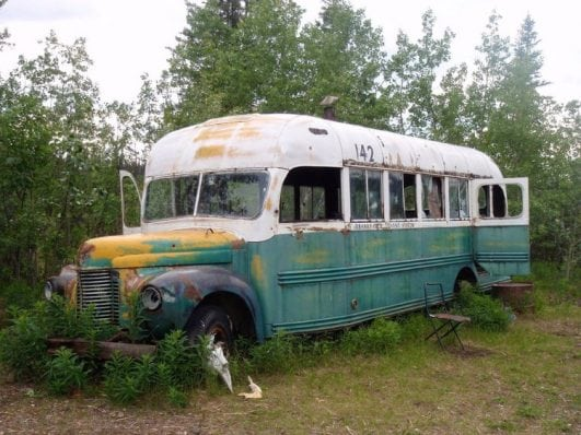Chris McCandless' magic bus, Stampede Trail, Alaska
