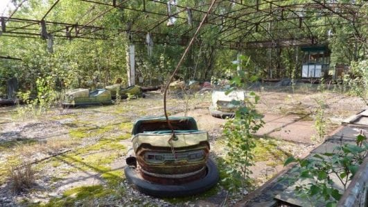 Driverless bumper cars, Chernobyl, Ukraine