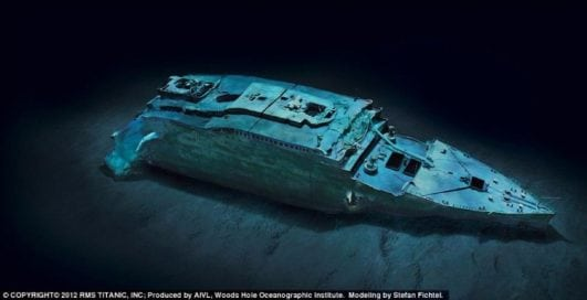 The Titanic wreck 2