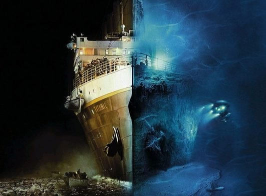 The Titanic wreck