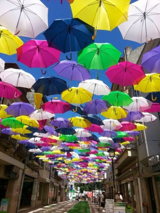 Annual Umbrella Sky project in Portugal