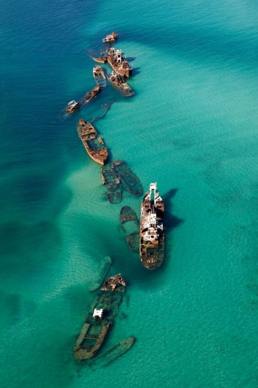 Moreton — a sandy island of shipwrecks in Australia