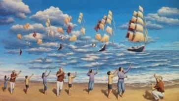 Mind-Tricking Illusion Magic Realism Paintings by Rob Gonsalves