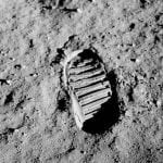 Footprint on the moon — 1969
