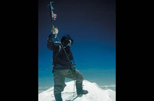 Tenzing Norgay on Everest's Summit — 1953