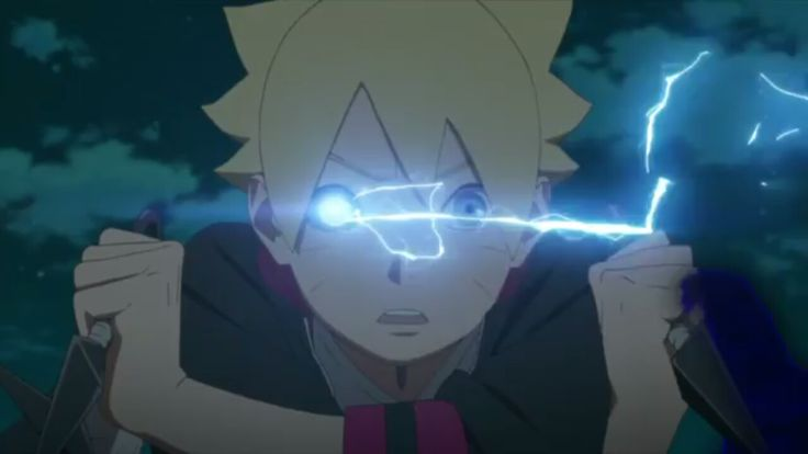 Boruto-Jougan eye activated first time spotting nue in Boruto anime