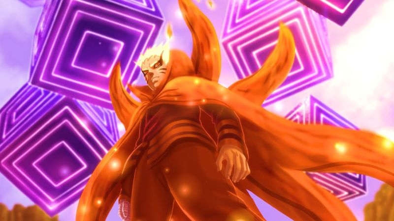 Isshiki's energy cubes stoped by Naruto in Baryon Mode