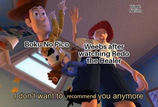 Redo of Healer (Kaifuku Jutsushi no Yarinaoshi) memes anime funniest memes