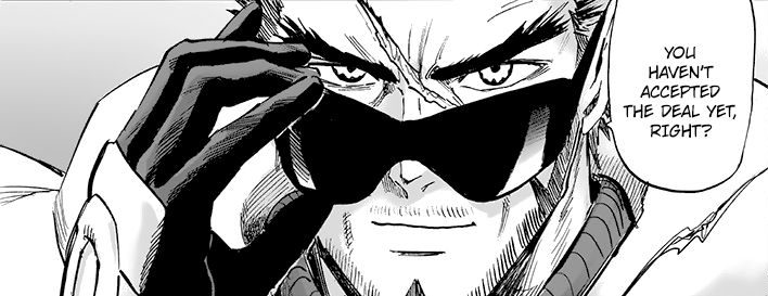 blast from one punch man reveal himself in manga
