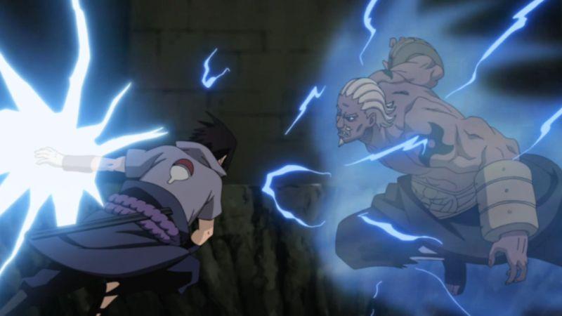 sasuke fight kages