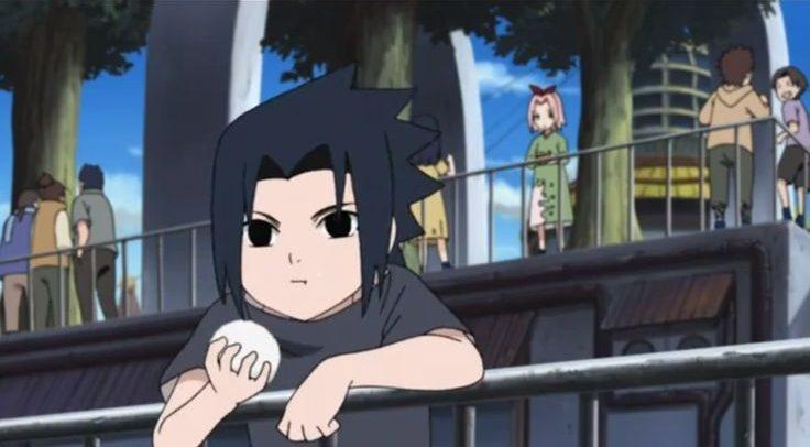 sasuke uchiha eat